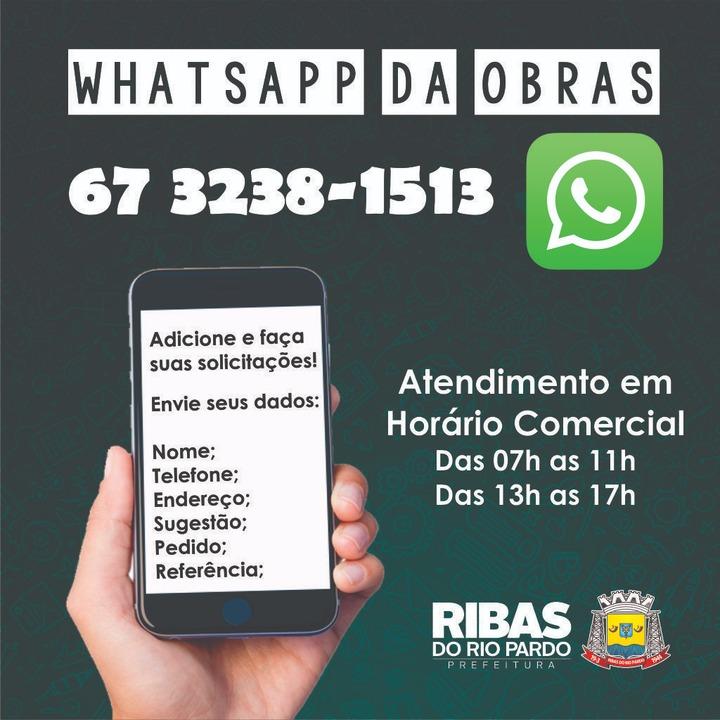 Secretaria de Obras conta agora com número de WhatsApp para ... f0afc29895